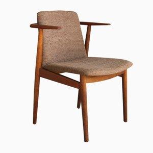 Dänischer Armlehnstuhl aus Teakholz von Hans Olsen mit Beinen aus Eichenholz, 1960er