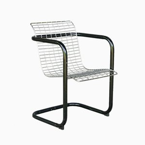 Industrial Galvanized Metal Club Chair, 1970s