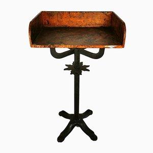 Tavolino antico industriale in ghisa