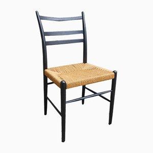 Sedia da pranzo moderna in legno curvo e juta di Yngve Ekström per Gemla Möbler, Scandinavia, anni '50