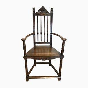 Chaise d'Appoint Antique en Noyer