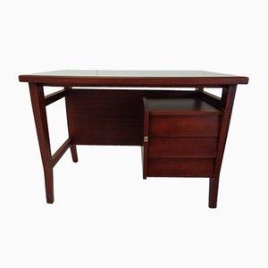 Mid-Century Italian Mahogany Desk by Gio Ponti for Schirolli, 1952