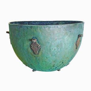 Antiker Servierteller aus Kupfer