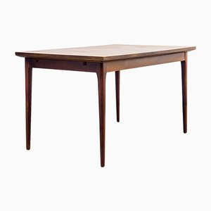 Mesa de comedor de chapa de palisandro, años 60