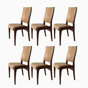 Chaises de Salon en Teck et en Vinyle de G-Plan, 1970s, Set de 6