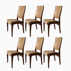 Teak and Vinyl Dining Chairs from G-Plan, 1970s, Set of 6