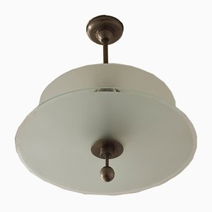 Lámpara de araña Bauhaus de Emil Fahrenkamp para Schwintzer & Graeff, años 30