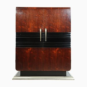 Vintage Art Deco French Rosewood Cabinet, 1930s