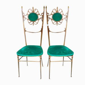 Golden Brass Chiavari Chair, 1950s