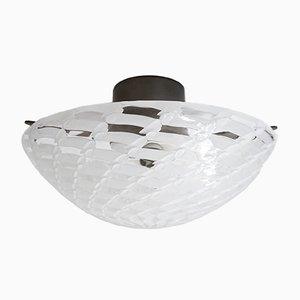 Italian Murano Glass Flush Mounted Ceiling Lamp from Venini, 1960s