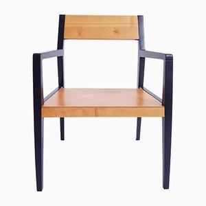 Poltrona minimalista in legno di Horgenglarus, anni '50