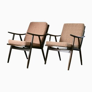 Sessel aus Bugholz von Thonet, 1960er, 2er Set