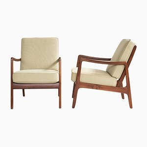 Danish Armchairs by Ole Wanscher for France & Søn, 1960s, Set of 2