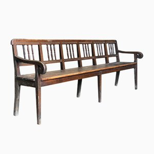 Antique French Oak and Pine Bench
