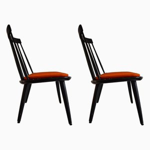 Italian Pine Dining Chairs from Pizzetti, 1970s, Set of 2
