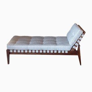 Sofá cama italiano de caoba, años 50