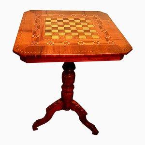 Mesa de juegos italiana de nogal, siglo XIX