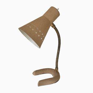 Französische Mid-Century Tischlampe aus Aluminium & Messing, 1960er