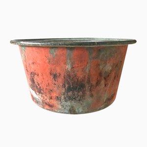 Quesera antigua de cobre