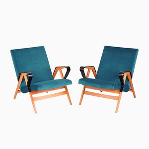 Beech Armchairs from Tatra, 1950s, Set of 2