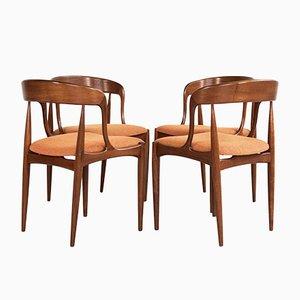 Chaises de Salon par Johannes Andersen pour Uldum Møbelfabrik, Danemark, 1960s, Set de 4
