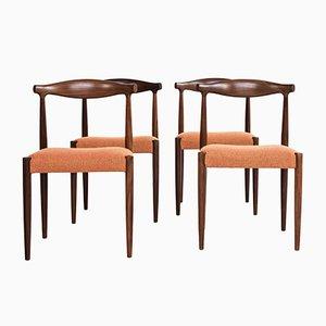Dänische Esszimmerstühle aus Stoff, Teak und Wolle von Vamo Sønderborg, 1960er, 2er Set