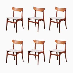 Dänische Esszimmerstühle aus Teak von Schiønning & Ellegaard für Randers Møbelfabrik, 1960er, 6er Set