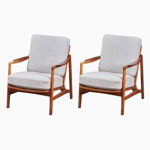 Danish Easy Chairs by Tove Kindt-Larsen for France & Daverkosen, 1960s, Set of 2