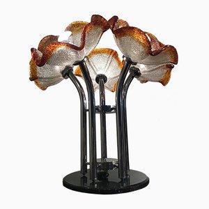 Lámpara de mesa italiana de cristal de Murano, años 70