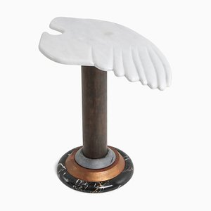 Copper & Marble Angel Wing Side Table, 1960s