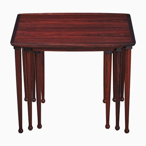 Danish Rosewood Nesting Tables from Møbel Intarsia, 1960s