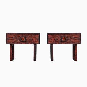 Tables de Chevet en Palissandre, Danemark, 1960s, Set de 2