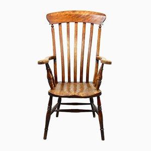 Antiker Armlehnstuhl aus Buche & Ulmenholz von Windsor