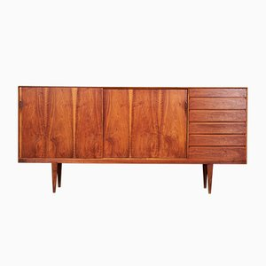 Danish Walnut Sideboard by Henry Rosengren Hansen for Brande Møbelfabrik, 1950s
