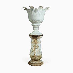 Urna francesa Art Déco vintage de hierro fundido, años 30