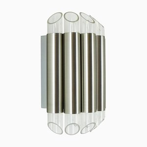 Aluminum and Plexiglas Wall Light from Raak, 1960s