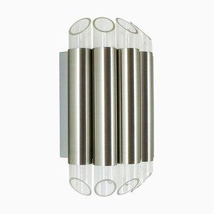Lampada da parete in alluminio e plexiglas di Raak, anni '60