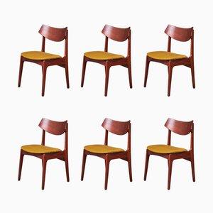 Danish Teak Dining Chairs by Funder-Schmidt & Madsen for Oddense Maskinsnedkeri, 1960s, Set of 6
