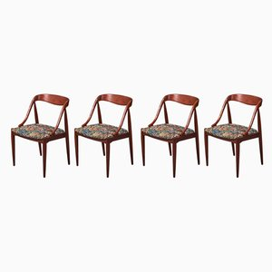 Danish Teak Dining Chairs by Johannes Andersen, 1950s, Set of 4