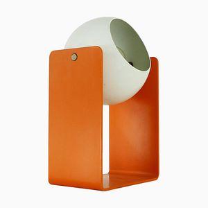 Orange & White Aluminum Table Lamp, 1960s