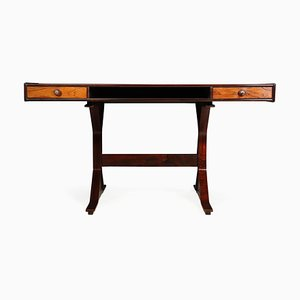 Italian Rosewood Desk by Gianfranco Frattini for Bernini, 1950s