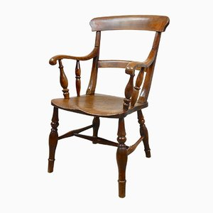 Antique Beech and Elm Windsor Armchair