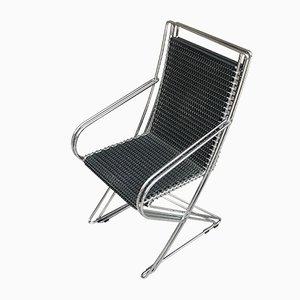 Vintage Kreuzschwinger Stuhl von Till Behrens für Schlubach