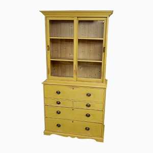 Antique Pine Secretaire Bookcase