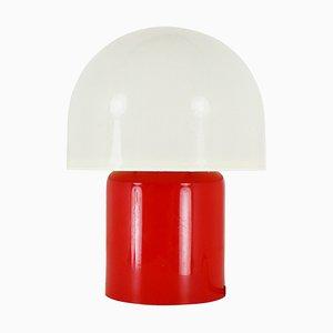 Pilzförmige Tischlampe in Rot & Weiß von Dijkstra Lampen, 1970er