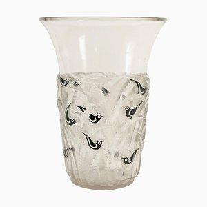 Vaso nr. 1056 in vetro di René Lalique, anni '30
