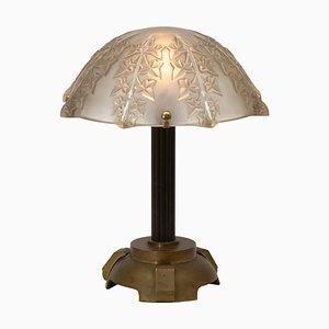 Lámpara de mesa Ivy de René Lalique, años 30