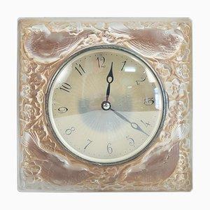 Horloge Japonaise Quatre moineaux par René Lalique pour Léon Hatot, 1920s