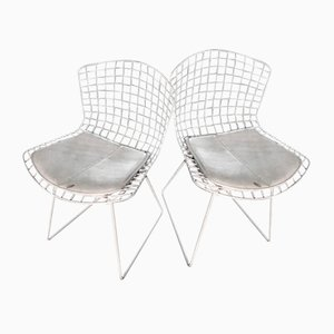 Chaises d'Appoint Wire par Harry Bertoia pour Knoll Inc., 1952, Set de 2