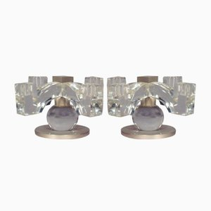 Crystal Ceiling Lamps, 1930s, Set of 2